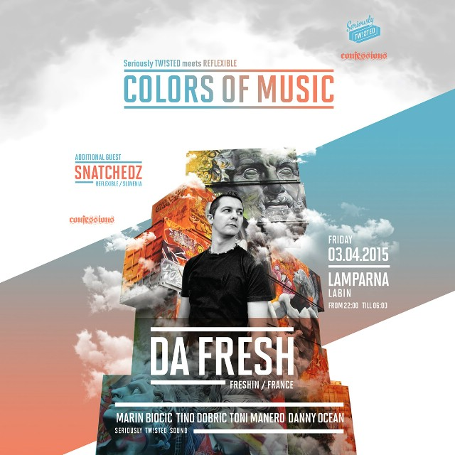 COLORS OF MUSIC w/ DA FRESH @ KuC Lamparna, Labin 03.04.2015.