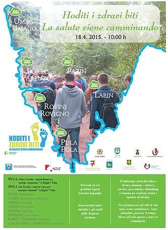 Manifestacija 'Hoditi i zdravi biti' ove subote u Labinu - Program