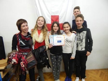 Ekipa podmlatka HCK OŠ M.Vlačića 6. na Međužupanijskom natjecanju u Žminju