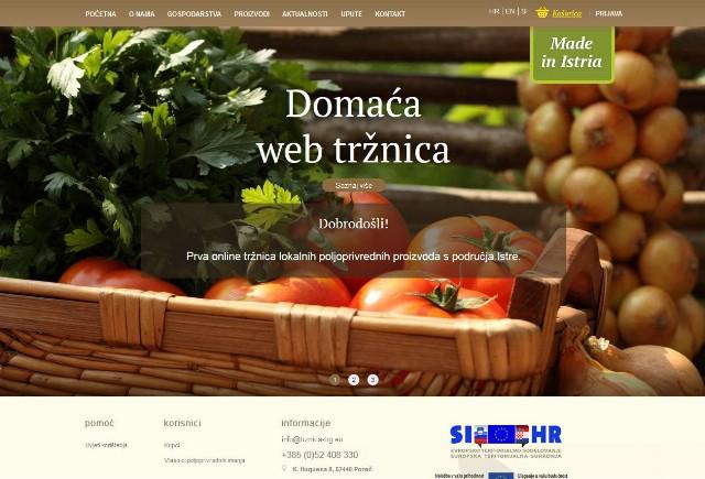 Pretražujte i kupujte istarske poljoprivredne proizvode na `Domaćoj web tržnici`