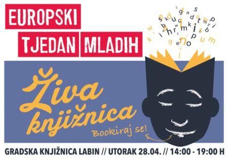 Živa knjižnica u Labinu: bookiraj svoju kartu za Europu!  28. 04. 2015. u 14h @ Gradska knjižnica Labin