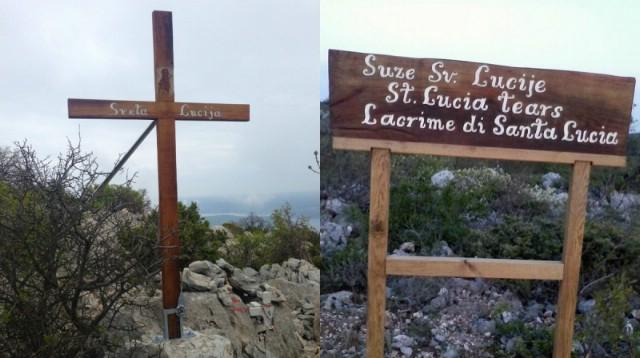 Blagoslov križa kod svete Lucije na Skitači