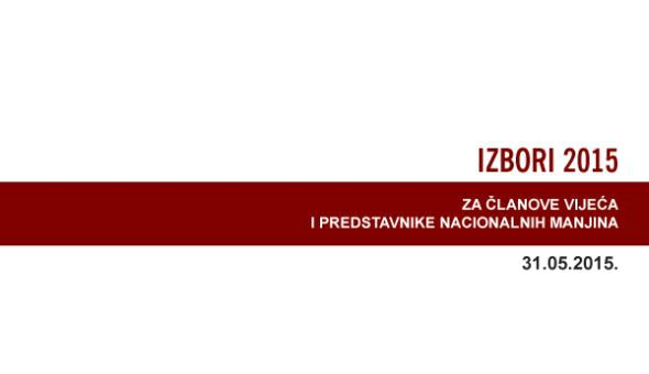 Obavijest biračima o izborima za članove vijeća i predstavnike nacionalnih manjina u jedinicama lokalne i područne (regionalne) samouprave - dopuna ili ispravak podataka u registru birača do 20. 05.