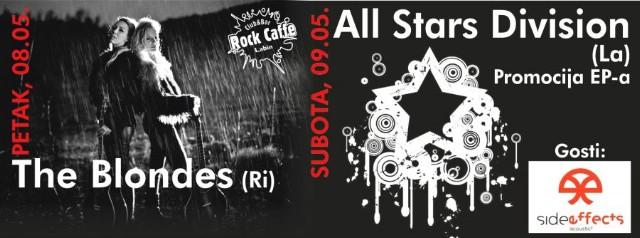 Bogat vikend u labinskom Rock Caffeu: Labinski All Stars Division promovira EP / Koncert Side Effects i riječana The Blondes