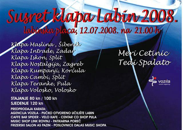 "2. SUSRET KLAPA ""LABIN 2008"""