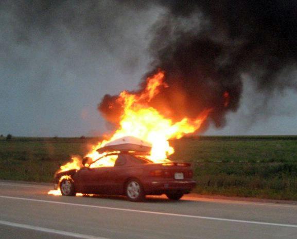 U Rapcu se zapalio »ford focus«