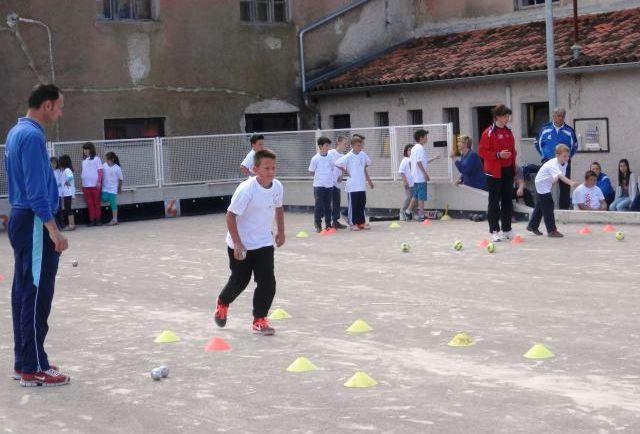 Natjecanje iz projekta Boćajmo u školi u srijedu 20. svibnja 2015. u Labinu i Čepiću