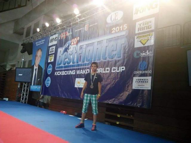 Filip Grbić brončani na Svjetskom kupu u kickboxingu Bestfighter 2015 u Riminiju