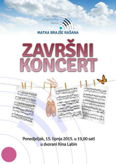 Završnim koncertom učenika OUŠ Matka Brajše Rašana u ponedjeljak 15.6. završava prva godina samostalnog postojanja škole