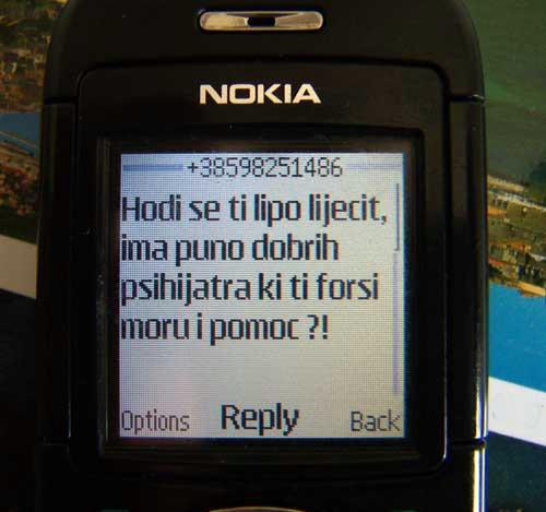 Prijetnje i uvrede Adrianu Kiršiću s mobitela županijskih vijećnika Danice Miletić i Sergia Riga