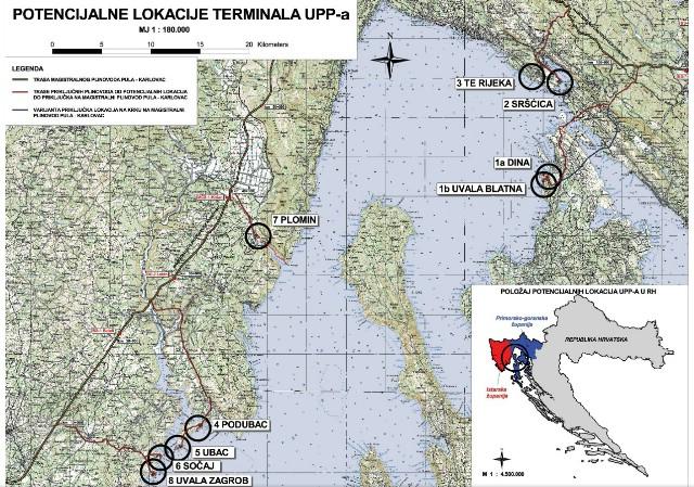 Započela javna rasprava o lokacijama za LNG terminal