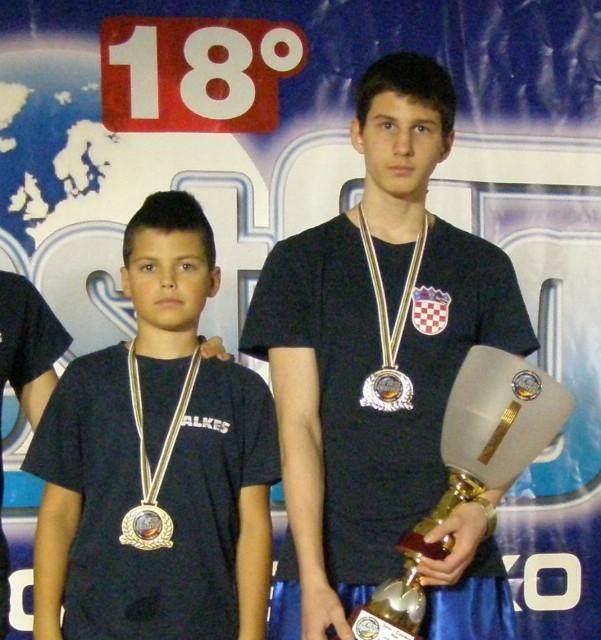 Marino Faraguna i  Filip Grbić  na pripremama kickboxing reprezentacije