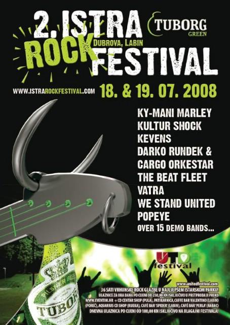 2.Istra Rock Festival: Ky-Mani Marley,TBF,Popeye,Darko Rundek & Cargo Orkestra,Kultur Shock,demo bendovi Labinštine...
