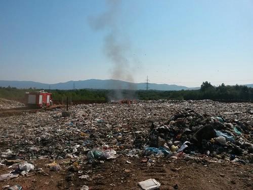 Manji požar na deponiju Cere