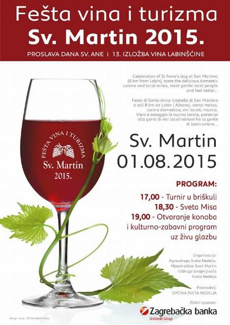 Sutra u Svetom Martinu Fešta vina i turizma