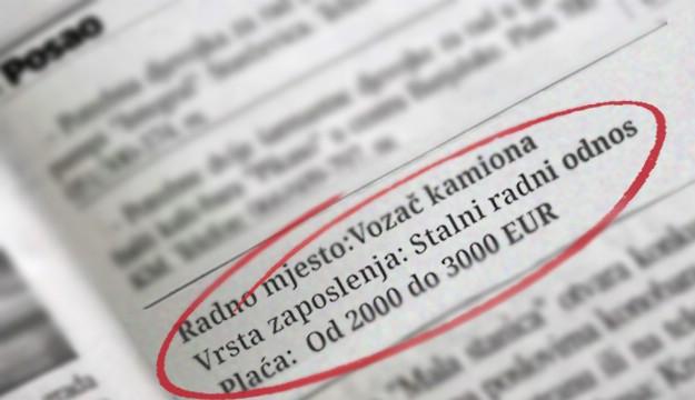 Želite pobjeći iz Hrvatske? Evo koji se poslovi nude i za koje plaće
