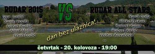 U četvrtak susret sadašnjih i bivših Rudarovih nogometaša