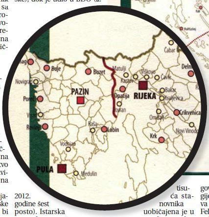 Prijedlog nove regionalne podjele: Istra sa središtem u Puli, podžupanijskim središtem u Pazinu sa šest gradova i pet općina