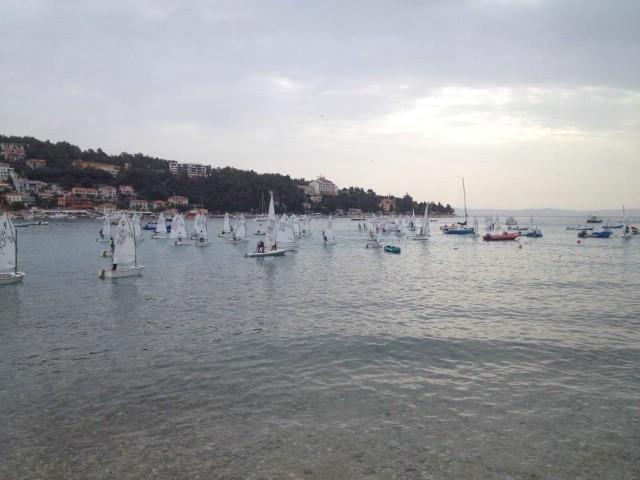 Zbog loših vremenskih uvjeta nije se plovilo drugog dana Otvorenog prvenstva HR za kadete u Rapcu