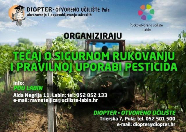 Otvoren jesenski rok upisa u program osposobljavanja za održivu uporabu pesticida pri POU Labin