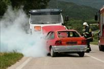 Labin: u vožnji se zapalio auto
