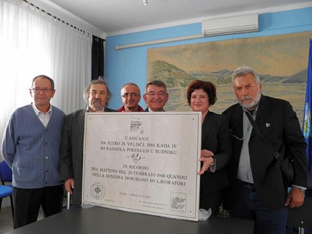 Za Dan općine u Raši će se postaviti spomen ploča nastradalim rudarima