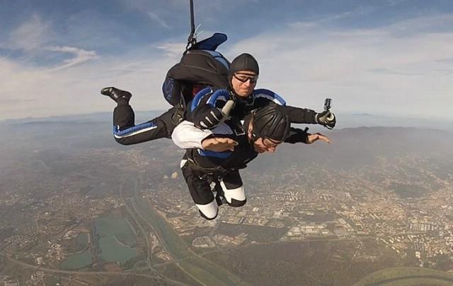 Labinjan Daniel Zahtila prvi je paraplegičar koji je izveo skok s padobranom u Hrvatskoj