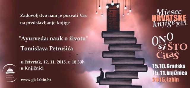 Predstavljanje knjige `Ayurveda: nauk o životu` Tomislava Petrušića  12. 11. 2015. u Gradskoj knjižnici Labin