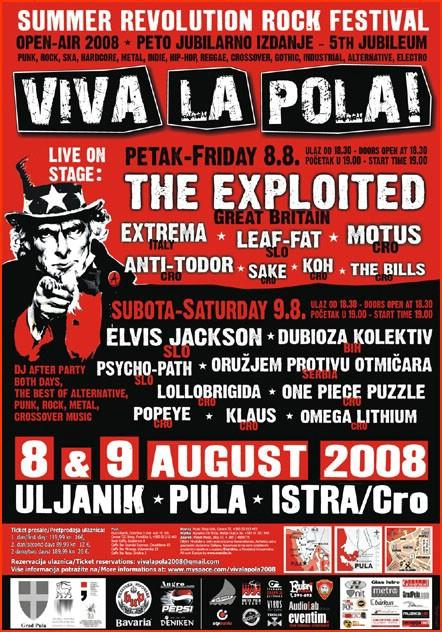 The Exploited neće doći na Viva La Polu!