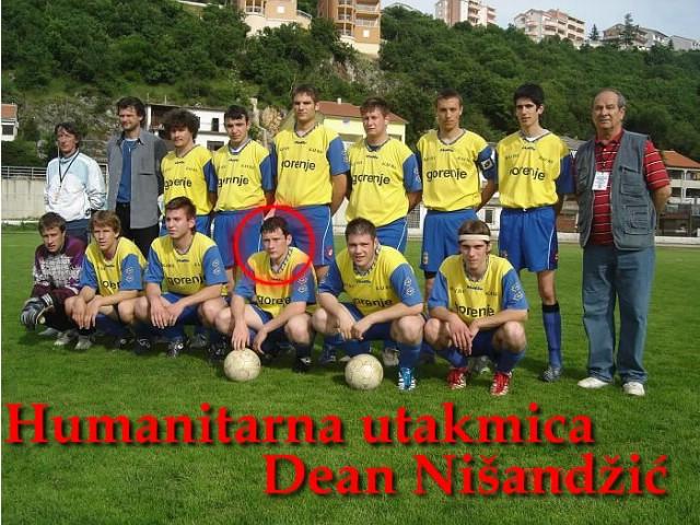 Humanitarna utakmica za Deana Nišandžića
