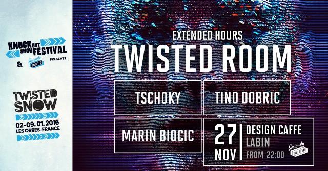 TWISTED ROOM w/ Tino Dobric, Marin Biocic & Tschoky @ Design Caffe, Labin 27.11.2015.