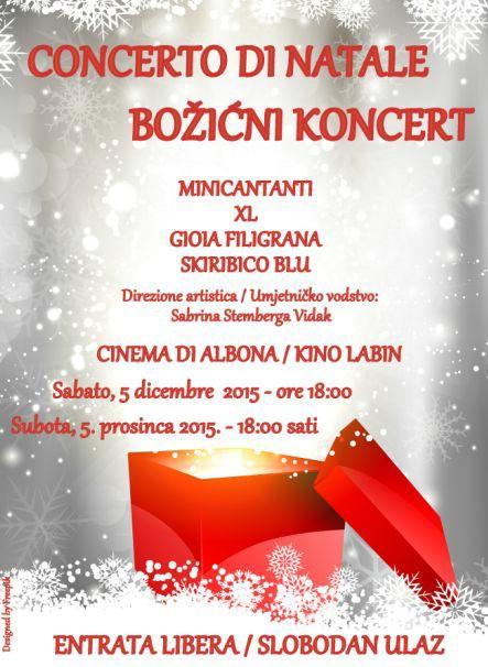 Božićni koncert Zajednice Talijana Labin 05. prosinca u Kinu Labin