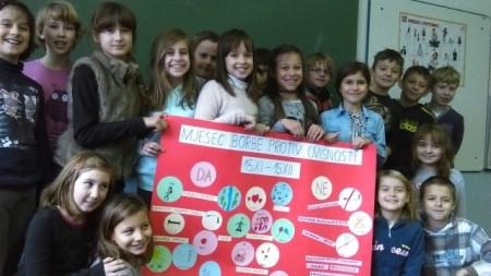 """Mjesec borbe protiv ovisnosti u Osnovnoj školi """"Ivo Lola Ribar""""Labin"""