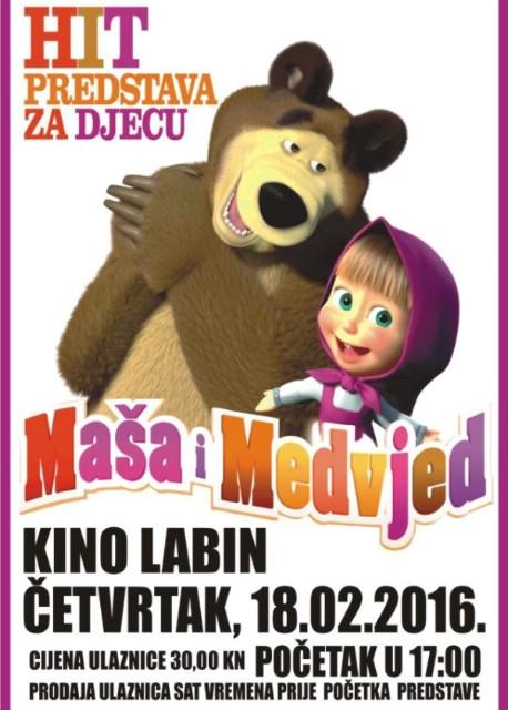 Kino Labin: Kazališna predstava za djecu `Maša i medvjed` 18. 02. 2016.