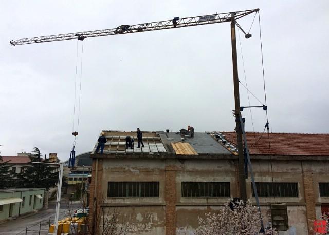 Rekonstrukcija krova stare školske radionice Srednje škole Mate Blažina