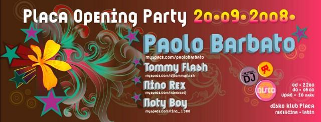 U subotu u Klubu Placa gostuje DJ Paolo Barbato!