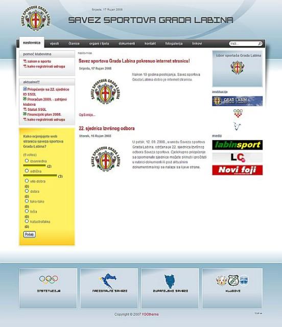 Savez sportova Grada Labina dobio službenu web stranicu
