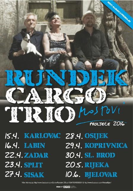 Rundek Cargo Trio kreće na turneju po 10 gradova u Hrvatskoj!