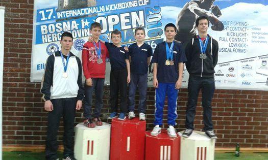Marino Faraguna, Marin Bašić  i  Filip Grbić kickboxing prvaci otvorenog prvenstva  BIH u Bihaću