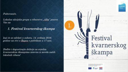 Najava gastro manifestacije 1. Festival kvarnerskog škampa