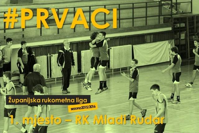 Mlađi kadeti RK Mladi rudar osvojili 1. mjesto u Županijskoj rukometnoj ligi