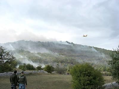 Obuzdan požar na Labinštini uz pomoć kanadera i air-tractora