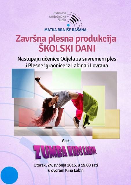 Kino Labin: Završna plesna produkcija `Školski dani`