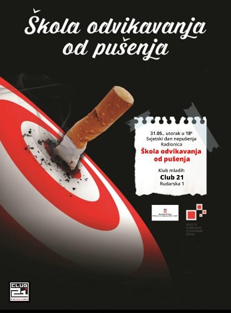 """Svjetski dan nepušenja – Radionica/predavanje """"Škola odvikavanja od pušenja"""""""