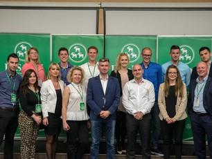 Lari Zahtila jedan od potpredsjednika, a Ivana Škopac članica predsjedništva Kluba mladih IDS-a
