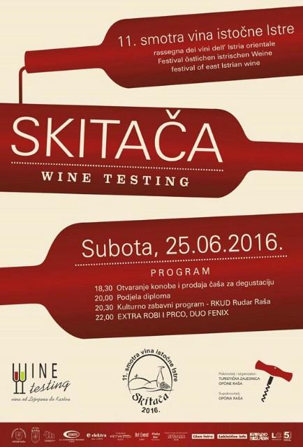 Slijedeće subote 25.6. 11. Smotra vina istočne Istre na Skitači