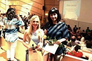 Alison Ivašić i Alida Blašković Koroljević nagrađene Oskarom znanja za š.g. 2015.-2016.