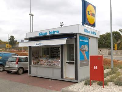 Novi kiosk ispred Lidla u Labinu