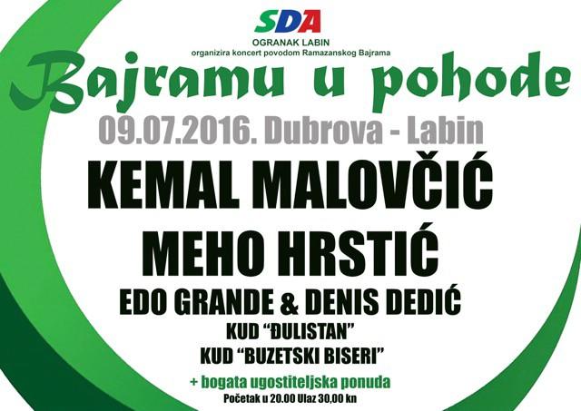 Koncert povodom Ramazanskog Bajrama 09.07. 2016. na Dubrovi u Labinu