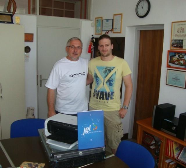 Donacija informatičke opreme JADRAN-GALENSKOG LABORATORIJA iz Rijeke labinskoj Srednjoj školi